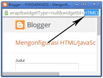 Cara Mudah Mengetahui ID Widget Blogger