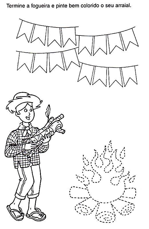 baú da web 20 atividades festa junina para imprimir e colorir