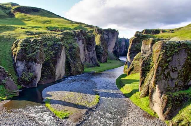 Fjadrargljufur Canyon Iceland, Islândia
