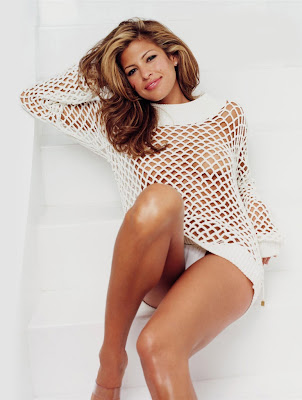 Sexy Eva Mendes in Fishnet Outfit