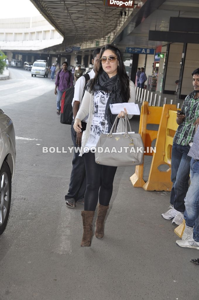 Kareena Kapoor 1 - Kareena Kapoor leave for the Ra.One London premiere