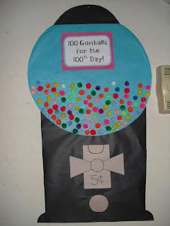 100 days of school gumball machine