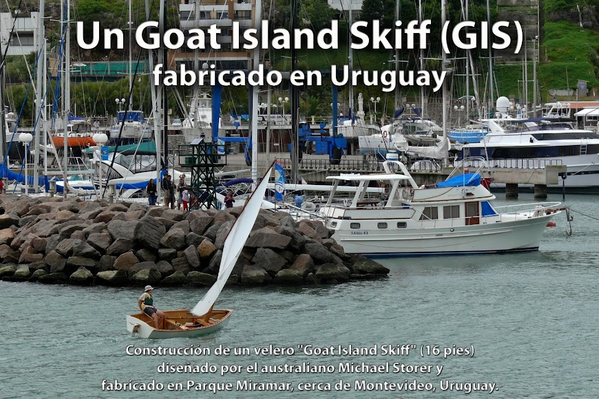 Un Goat Island Skiff (GIS) fabricado en Uruguay