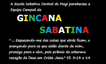 Confira Aqui a Equipe Campeã da Gincana Sabatina