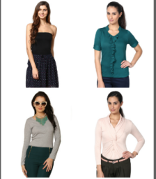 Buy Stylsih Girl's Tops and Tunics at Flat 50% off at Fashionara