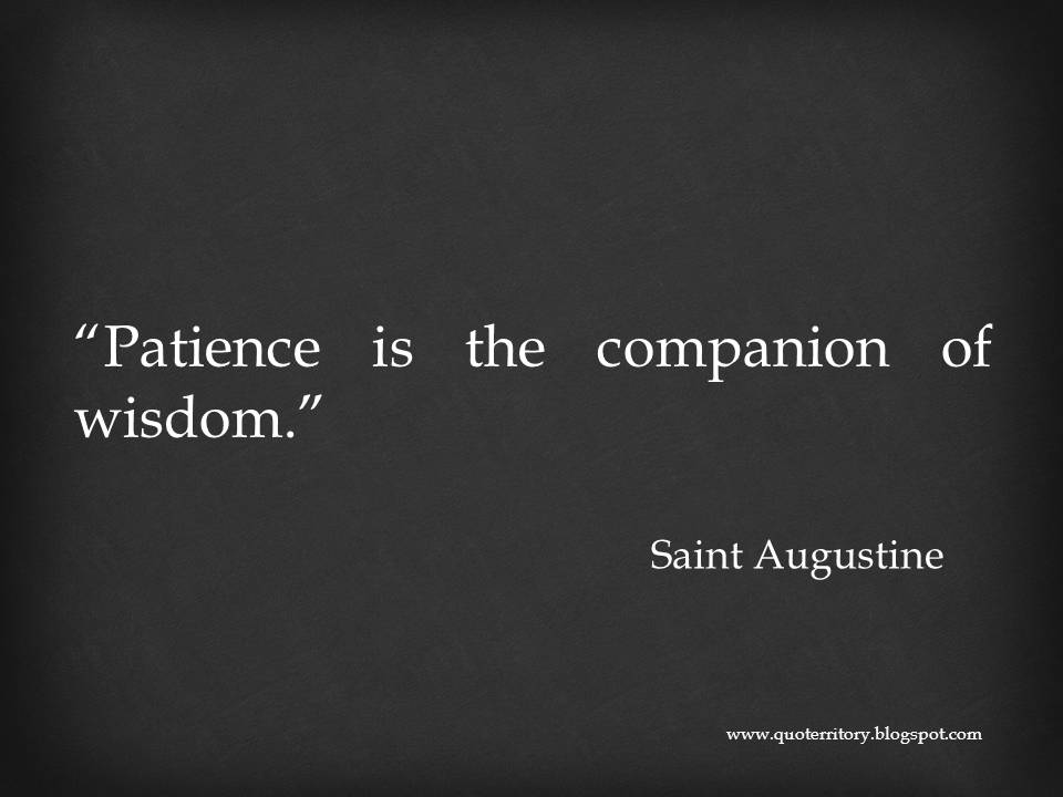 tidbits of wisdom from st augustine The confessions of saint augustine in the confessions of st augustine but to a place of wisdom, light, and freedom augustine felt admonished.