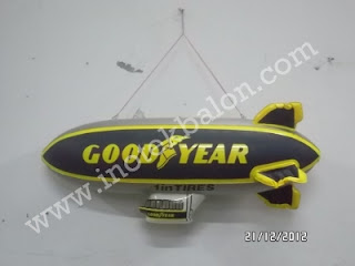 Balon karakter Air Ship atau Zeppelin Good Year