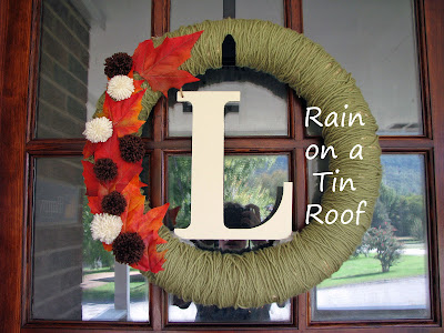 DIY Fall Wreath {rainonatinroof.com} #DIY #Fall #wreath