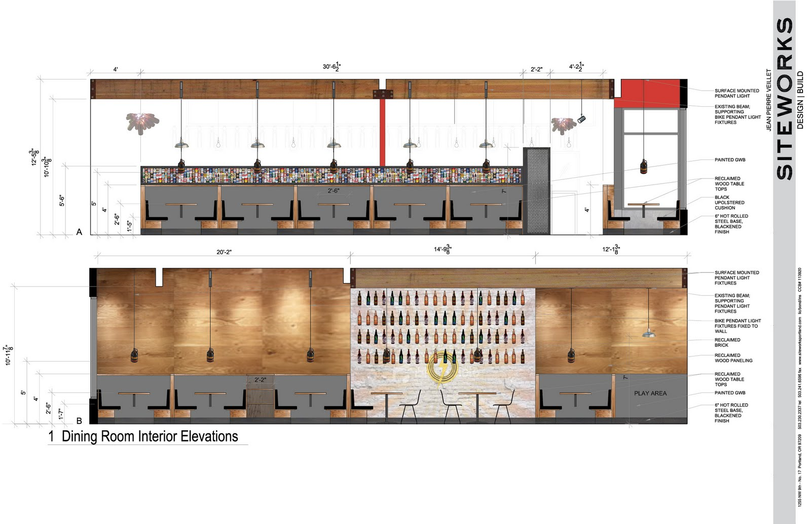Restaurant bar elevation drawings joy studio design