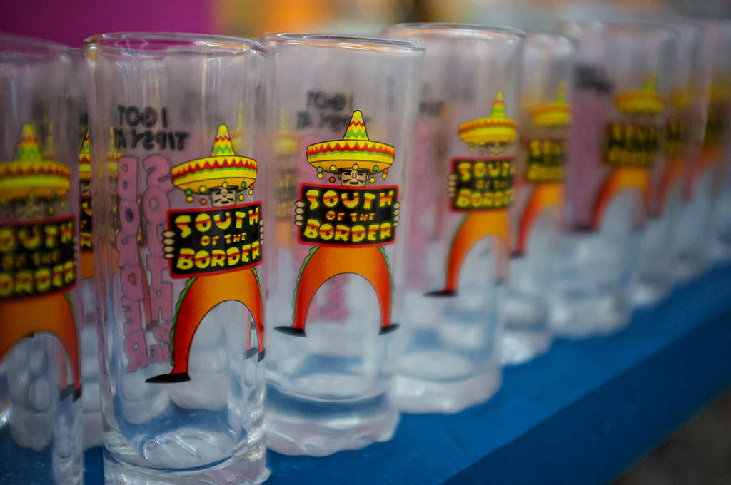 Shot Glasses at South of the Border