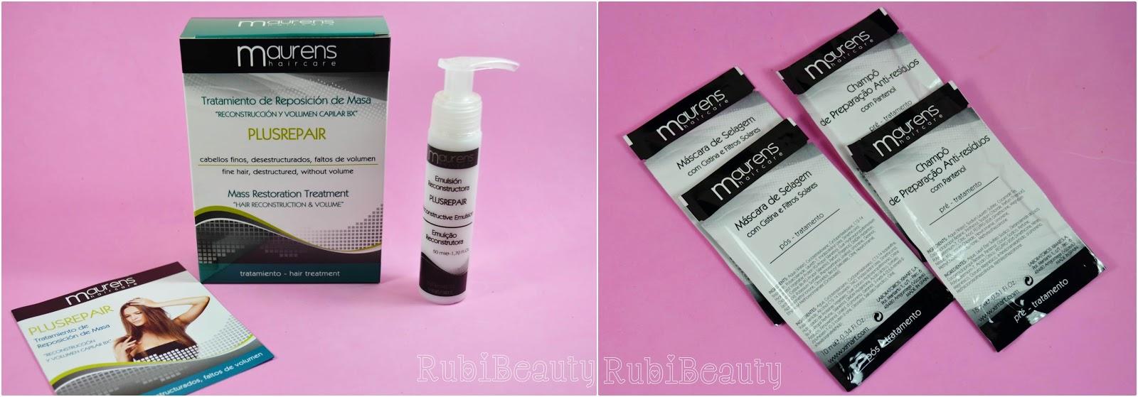rubibeauty brasil & Belleza botox capilar volumen cabello Maurens Repositor Masa review