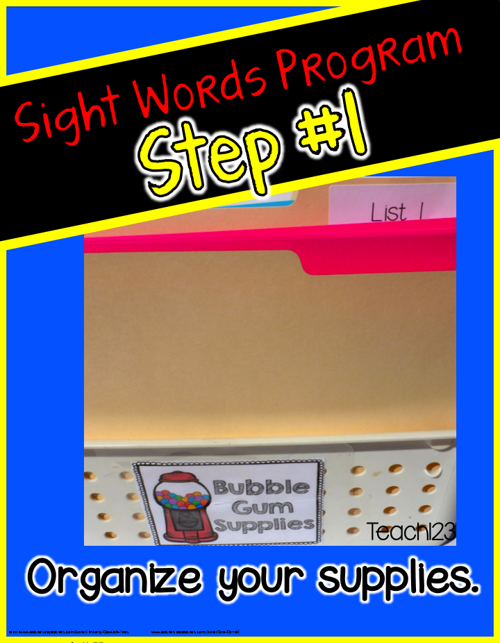 Editable sight word program teach123 if you teach kindergarten you may not have a student that needs this program the first week of school but at some point of the sciox Image collections