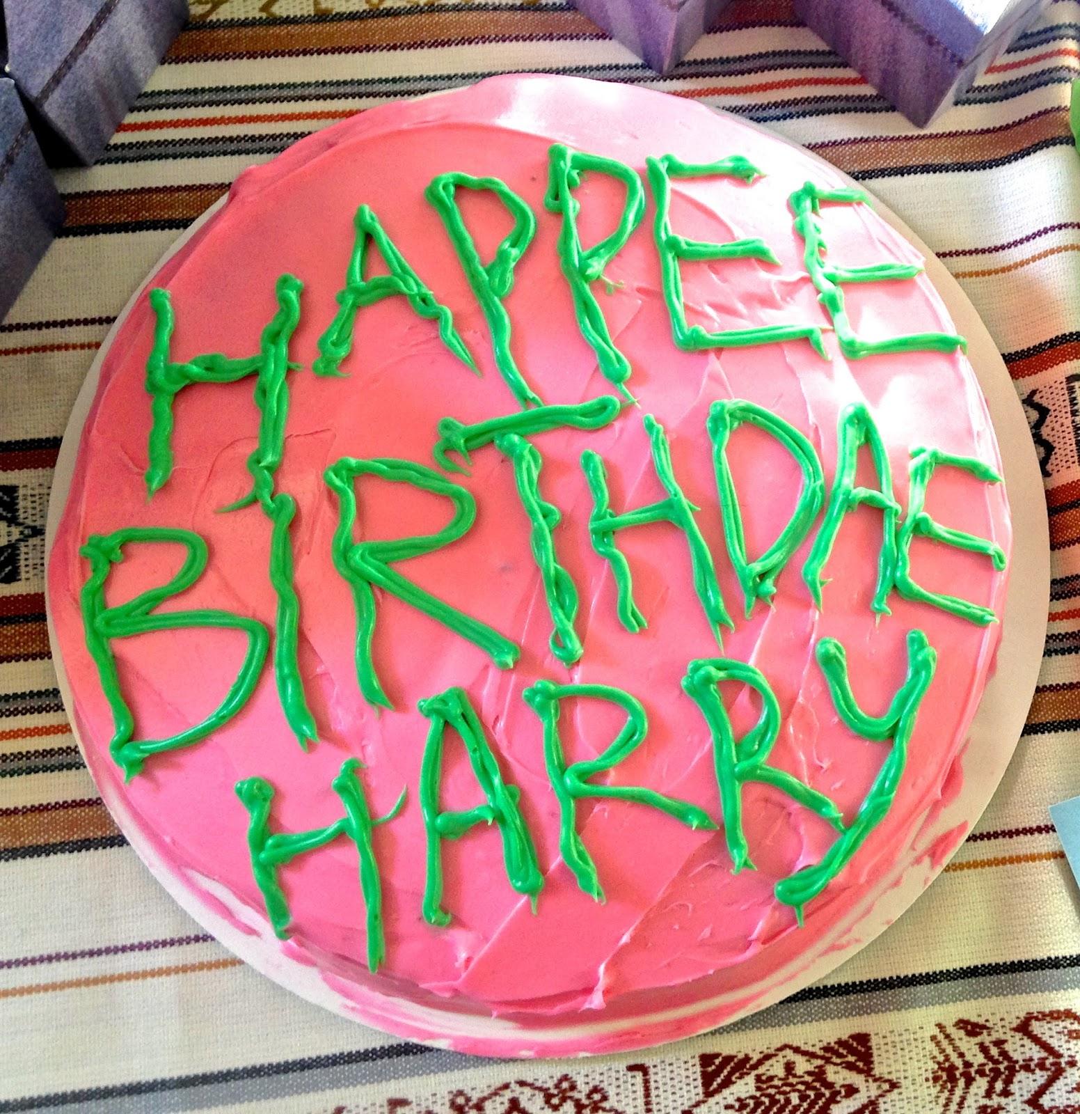 Happy Birthday Harry Potter Cake Bessemsthielens