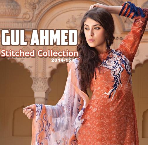Gul Ahmed Stitched Lawn 2014