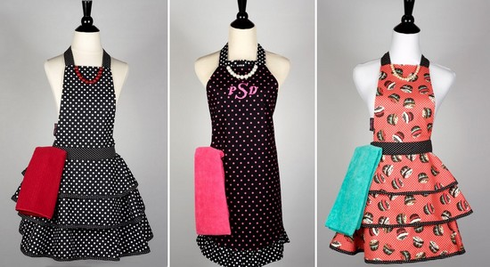 Stylish, retro aprons