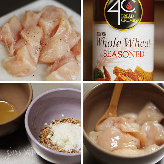 Season chicken with salt and pepper, then put in the bowl with the ...