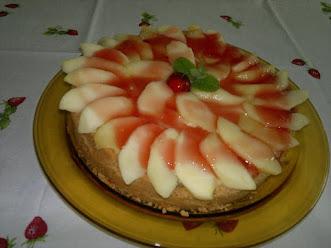 Torta de Maçã com biscoito maisena