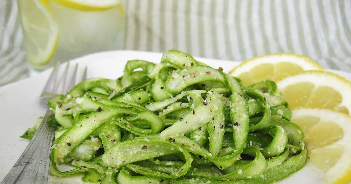 Asparagus Ribbons with Lemon Parmesan Dressing | Once Upon a Cutting ...