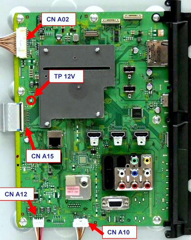 panasonic tc l42d30 led lcd tv power board led. Black Bedroom Furniture Sets. Home Design Ideas