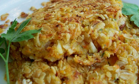 Beans and Potato Patties with Oats and Carrots