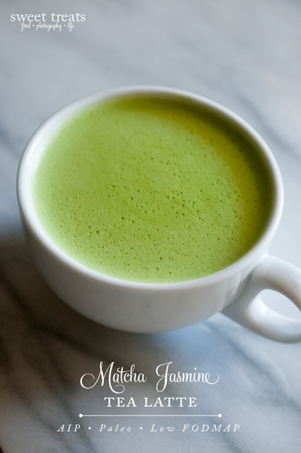 Matcha Jasmine Tea Latte  (AIP, Paleo, Low FODMAP)
