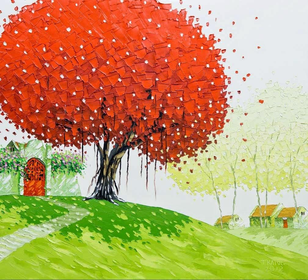 Pastel boya manzara örnekleri