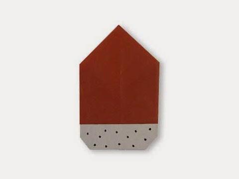 Hướng dẫn cách gấp hạt sồi bằng giấy đơn giản - Xếp hình Origami với Video clip - How to make an acorn