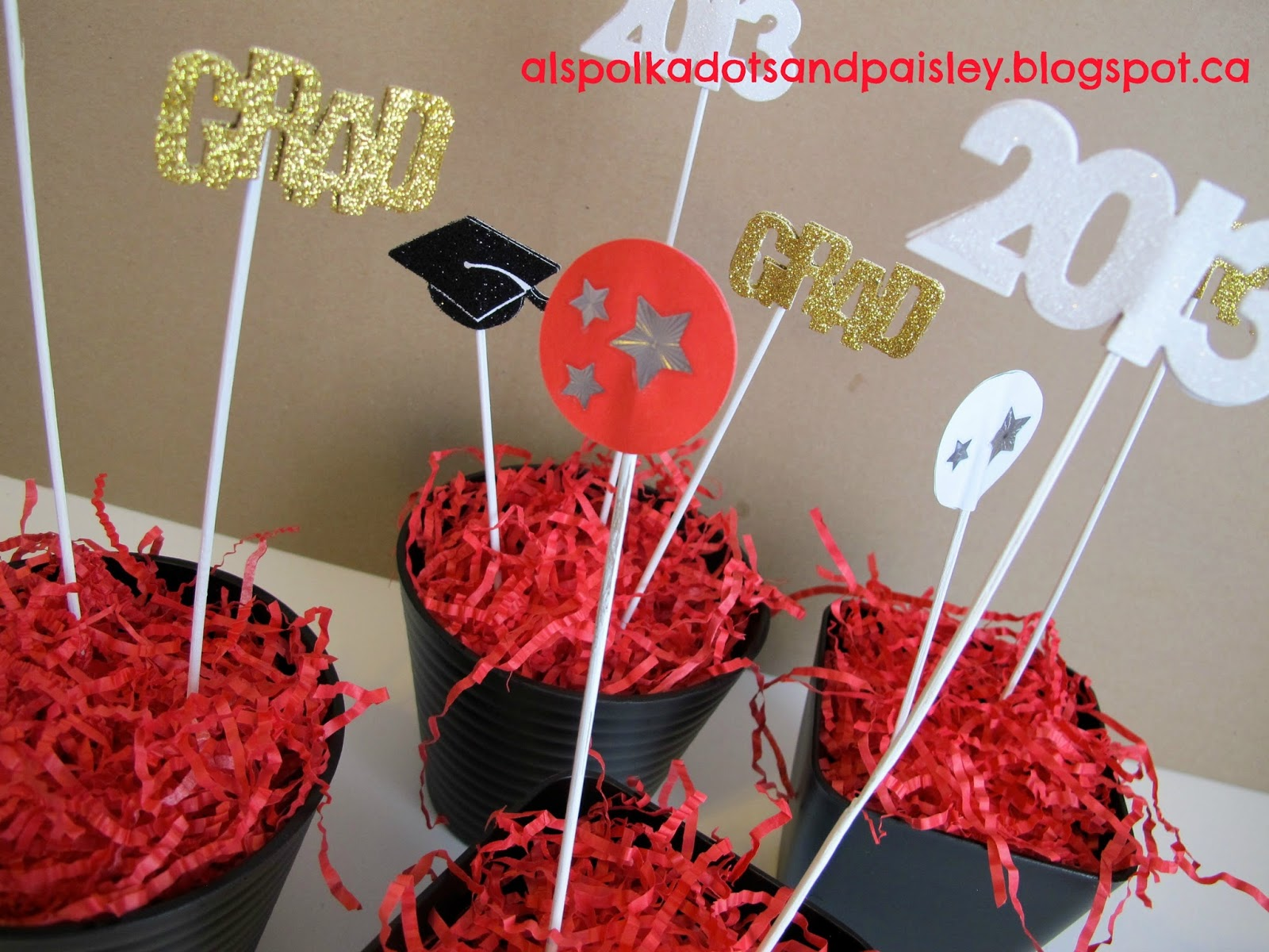 graduation centerpiece 2013 | just b.CAUSE