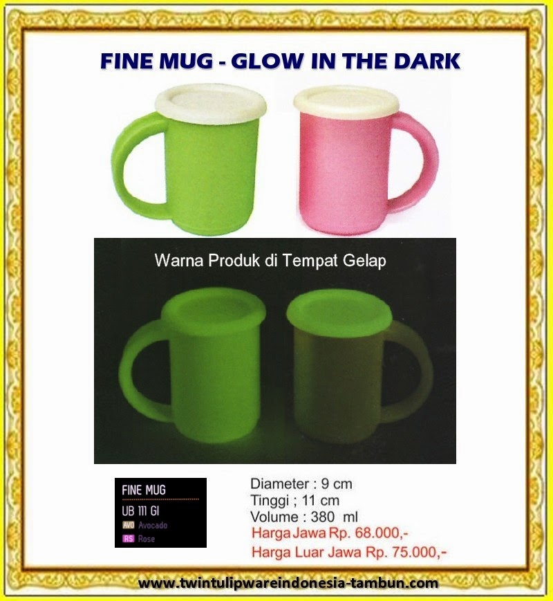 fine mug glow in the dark - tulipware 2013