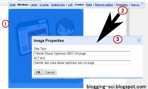 cara menambahkan keyword alt dan title pada gambar di blogger