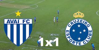 Avaí 1x1 Cruzeiro