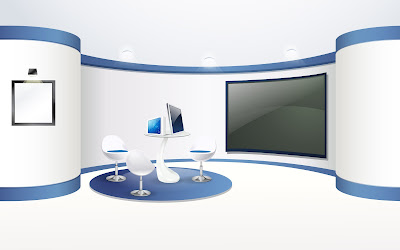 Blue Home Theater Furniture And Interior Arts Design
