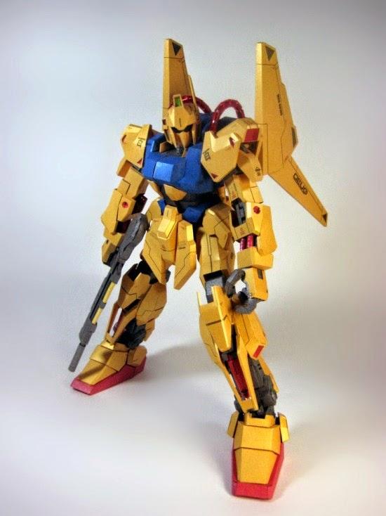 Gundam MSN 00100 Hyaku Shiki Papercraft Templates
