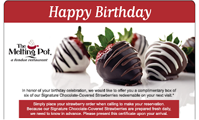 melting pot birthday freebie strawberries
