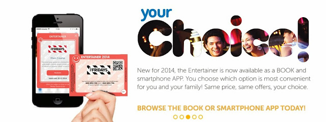 Choose between the book or the smartphone app version of The Entertainer