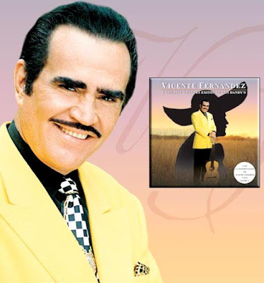 Vicente Fernández en portada de disco