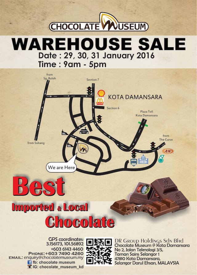 They are having an awesome Warehouse Sale this 29th to 31st January 2016!
