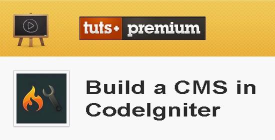 Tutsplus – Build a CMS in CodeIgniter