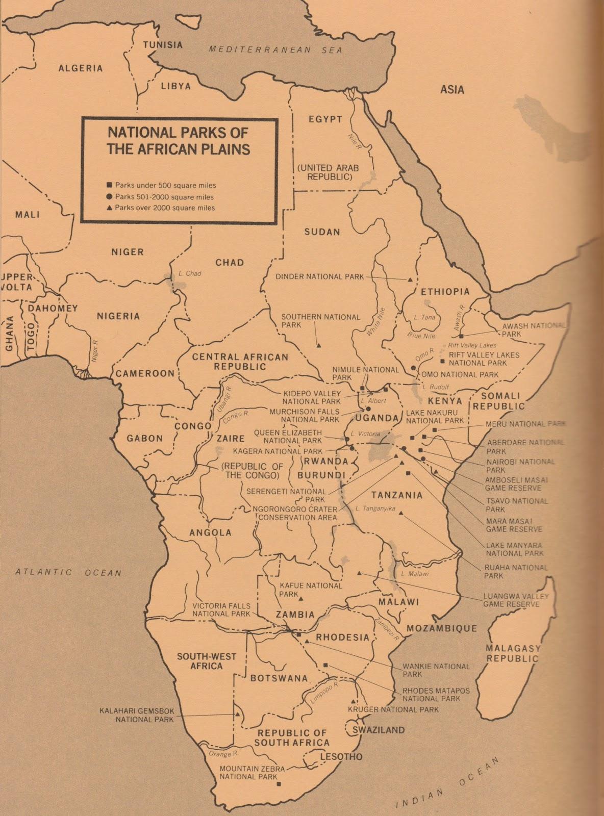 african savannah: national parks data
