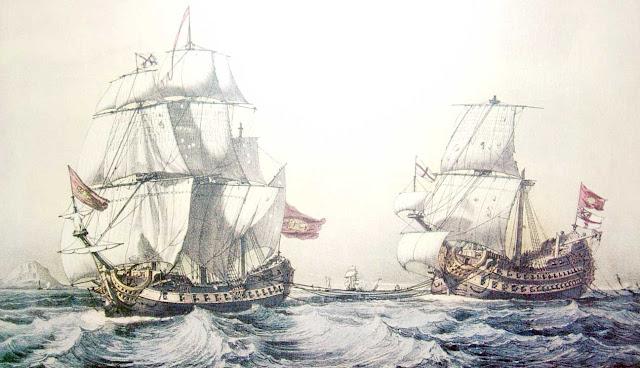 Blas de Lezo remolcando el Stanhope, Museo Naval Madrid