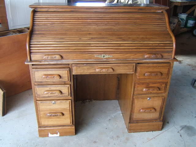 Secretary Desk Makeover Farmhouse