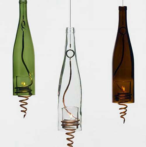Bottle Chandelier Kit: Little Pink Apples: Wine Bottle Chandelier
