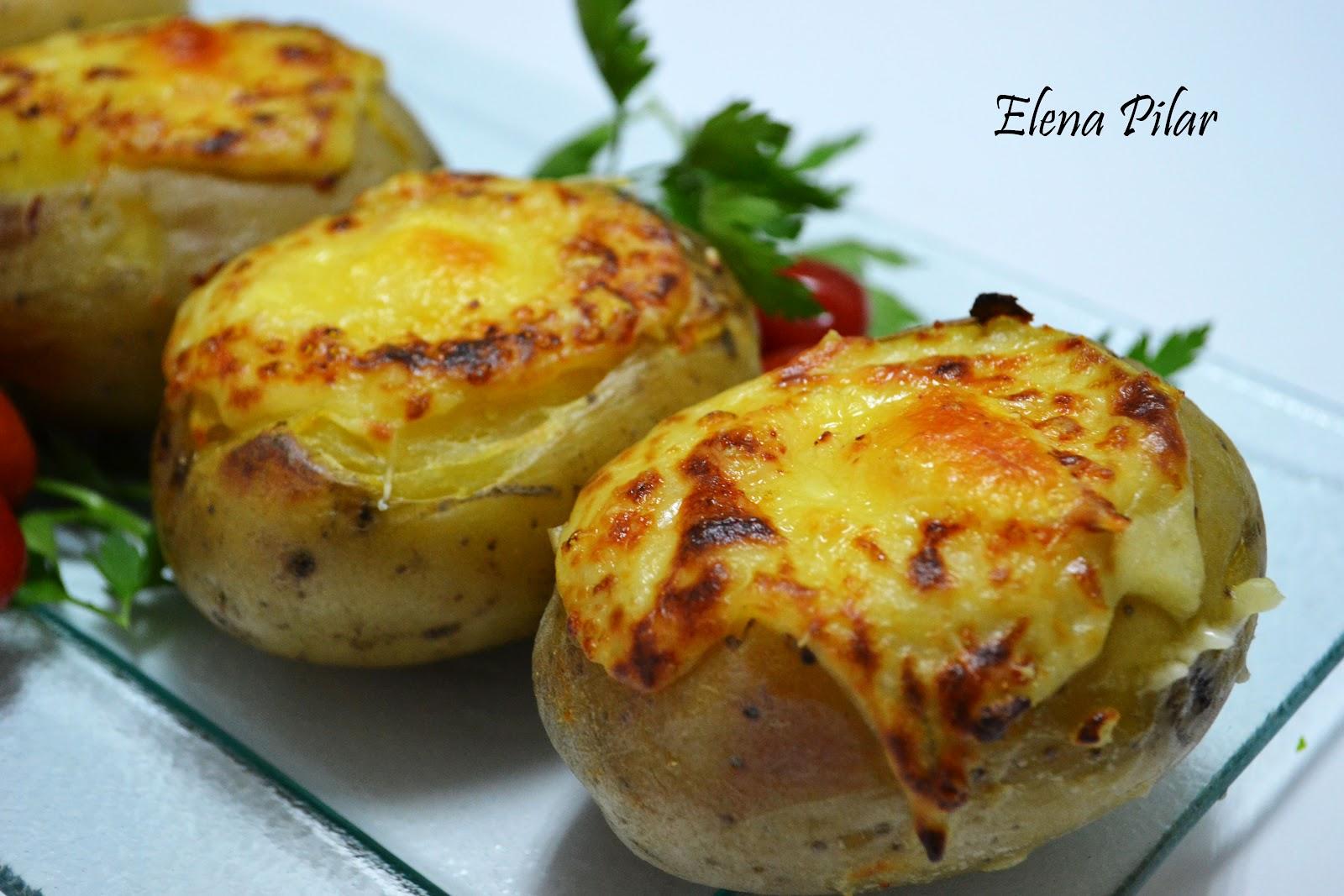 Mi recetario por elena pilar patatas gratinadas rellenas for Cocinar patatas rellenas