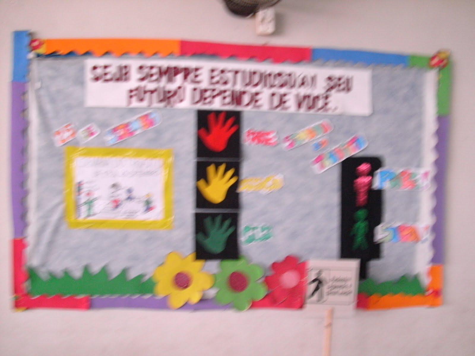 M os a arte educa o infantil semana do tr nsito for Mural sobre o transito
