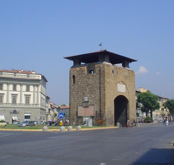 Curiosit di firenze porta di santa croce o alla croce for Piazza beccaria