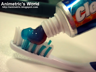 Closeup Fire-Freeze toothpaste