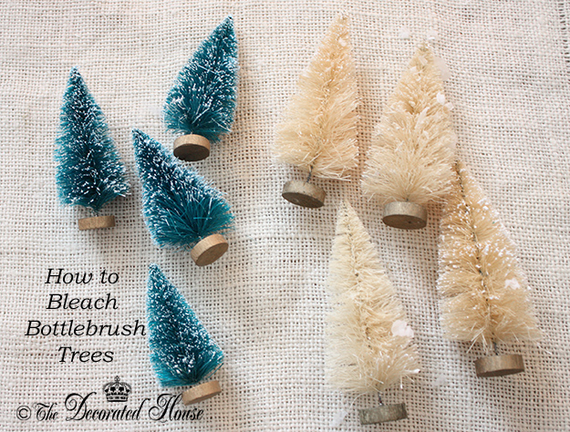 How to Bleach Bottle Brush Trees :: The Decorated House