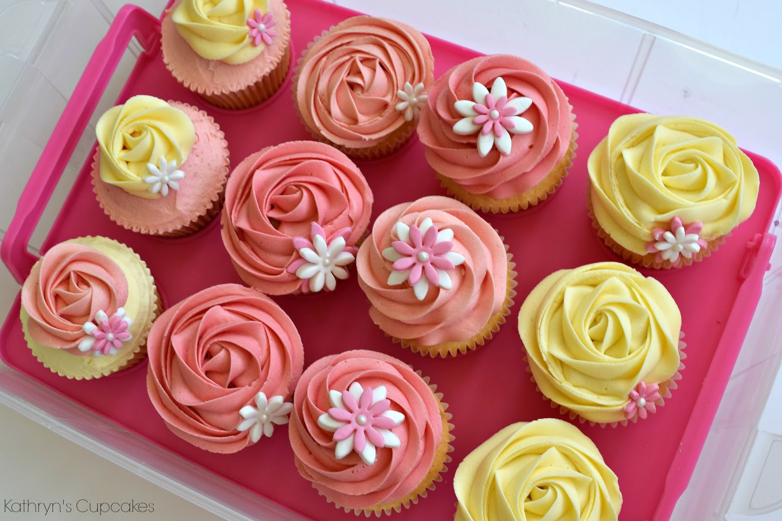 Birthday, Cupcakes, Pink, 22, Ideas, Decorations, Pretty, Flowers, Designs