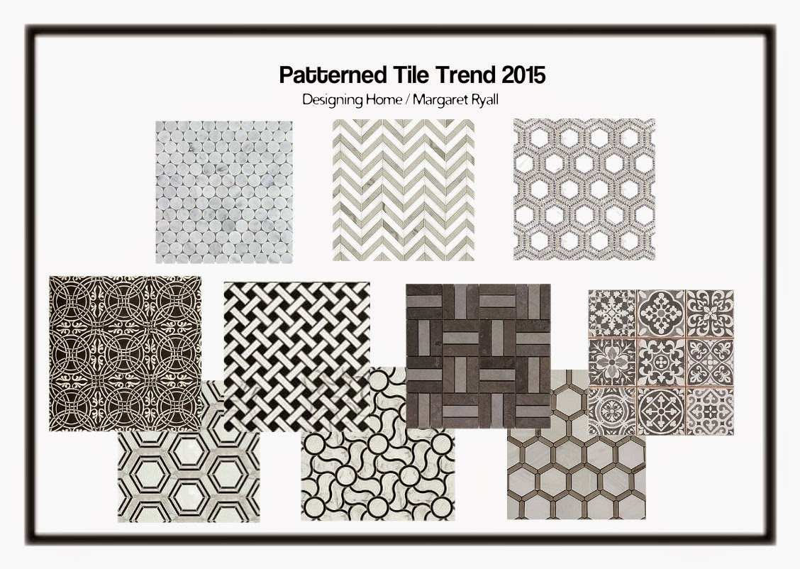 patterned geometric tiles, trend 2015