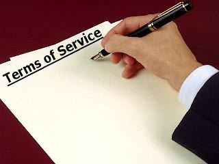 صفحة شروط الخدمة - Terms of service